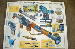 LARGE RPG-7 POSTER. BEAUTIFUL COLLECTOR'S ITEM. VERY RARE.